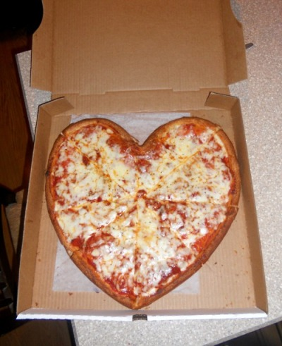 pizza as a heart